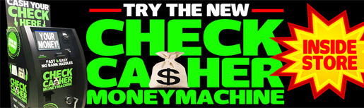 Check Cashier Money Machine Inside Store